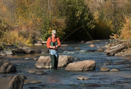 Colorado guest ranch resort fly fishing.